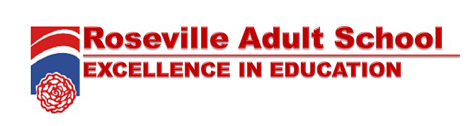 Roseville Adult School Excellence In Education Logo